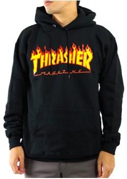Sweat Thrasher Flaming black