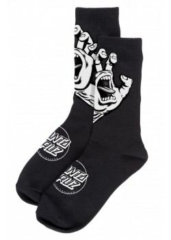 santa cruz Screaming Hand Mono Sock - Black