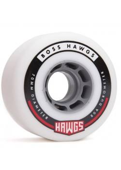 Hawgs Wheels Boss - 70mm / 80a White (Grey Core)
