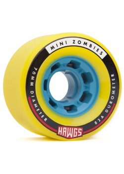 Hawgs Wheels Zombies - 70mm / 82A Yellow (Blue Core)