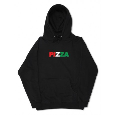 Pizza skateboards 3D sweat Hood - Black