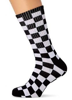 Vans Checkerboard Crew Socks - Black White