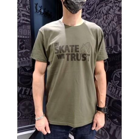 SHIFTY - In Skate We Trust Tee - Khaki