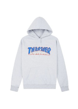 Thrasher Outlined Hood Ash Grey