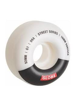 Globe G1 Wheels - White/Black/Bar - 52mm 99a