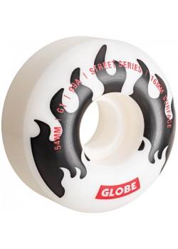 Globe G1 Wheels - White/Black/Flame - 54mm 99a