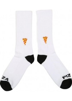 Pizza Emoji Socks - White