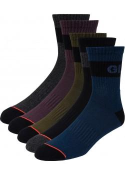 Globe Horizons Crew Sock 5 - Dark Assorted