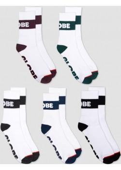 Horizons Crew Sock 5 - White Assorted