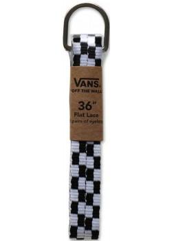 "Vans Laces 36"" Black White Checker"