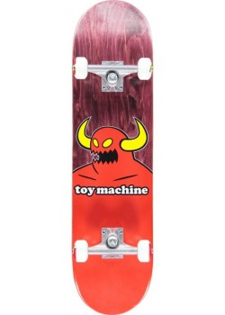 """Toy machine Monster Complete Pink / Red - 8"""" - Skate Complet"""