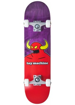 """Toy Machine Mini Monster Purple/Red - 7.375"""" - Skate Complet"""