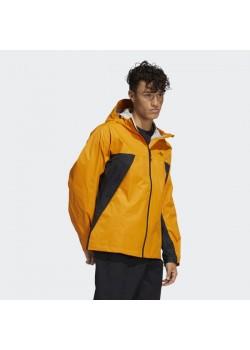 Adidas Tech Shell Jacket - Black / Focus Orange