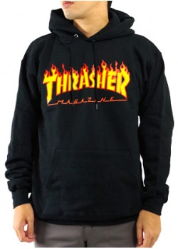 Sweat Thrasher Flaming black