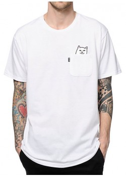 Rip n dip Lord Nermal Pocket Tee - White